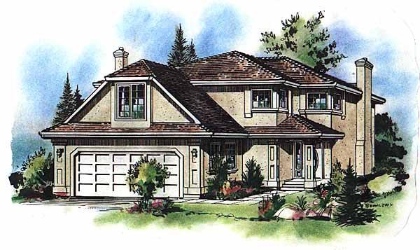 European House Plan 58593 Elevation