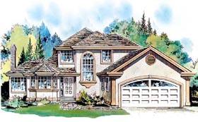 European House Plan 58596 Elevation