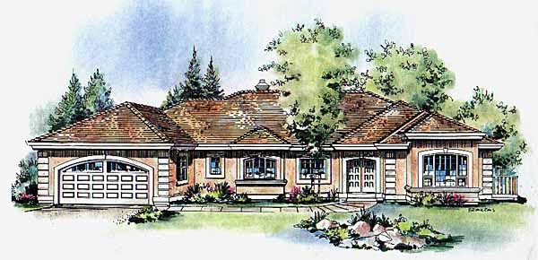 Ranch House Plan 58600 Elevation