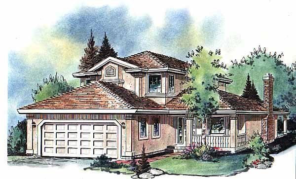 Florida House Plan 58601 Elevation