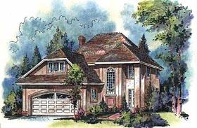 European House Plan 58602 Elevation