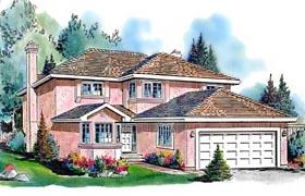 European House Plan 58603 Elevation