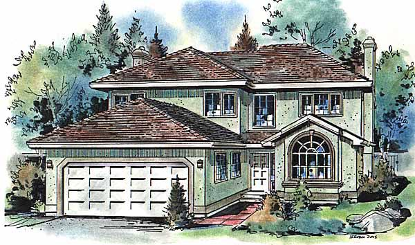 European House Plan 58604 Elevation