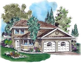 Contemporary House Plan 58607 Elevation
