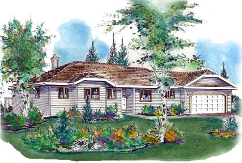 Ranch House Plan 58616 Elevation