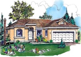 Mediterranean House Plan 58619 Elevation