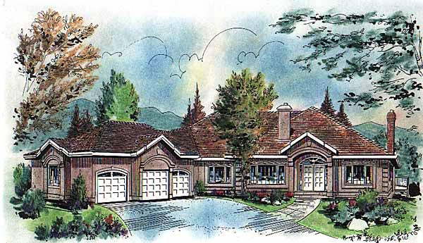 Ranch House Plan 58620 Elevation