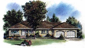 Ranch House Plan 58621 Elevation