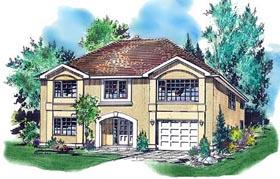 European House Plan 58624 Elevation