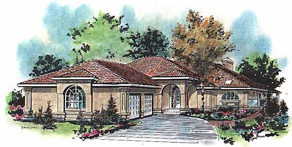 Mediterranean House Plan 58626 Elevation