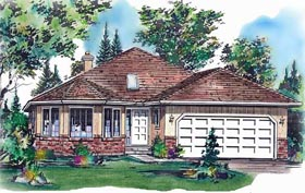 Contemporary House Plan 58627 Elevation