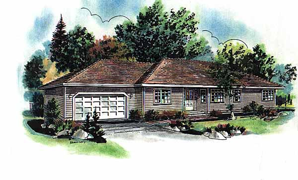Ranch House Plan 58637 Elevation