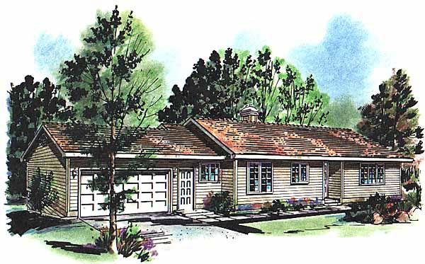 Ranch House Plan 58639 Elevation