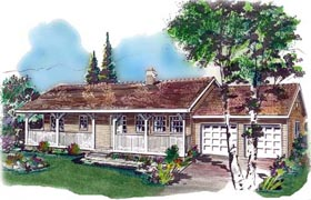 Country House Plan 58640 Elevation
