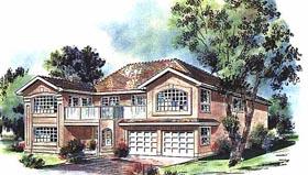 European House Plan 58642 Elevation