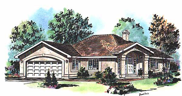 Florida House Plan 58644 Elevation