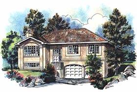 European House Plan 58647 Elevation