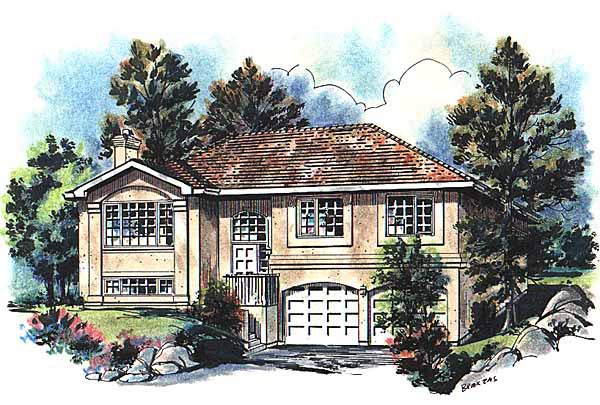 European House Plan 58647 Elevation