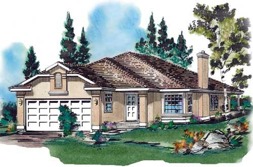Florida House Plan 58648 Elevation