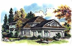 European House Plan 58656 Elevation