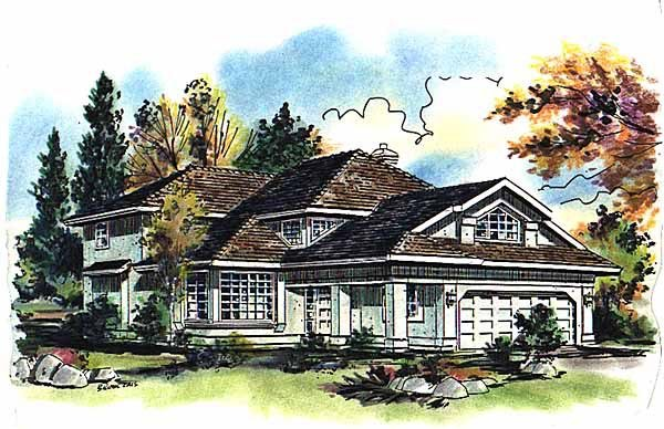 European House Plan 58656 Elevation