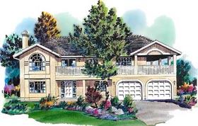 European House Plan 58658 Elevation