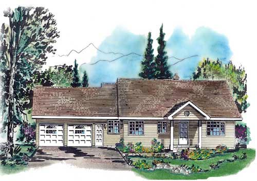Ranch House Plan 58659 Elevation