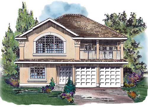 European House Plan 58660 with 4 Beds, 3 Baths, 2 Car Garage Elevation