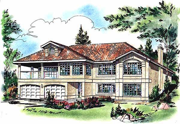 European House Plan 58661 Elevation
