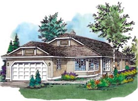 Contemporary House Plan 58662 Elevation