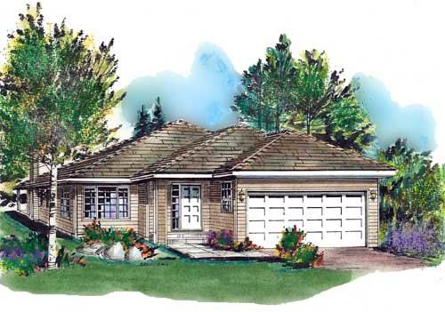 Ranch , Elevation of Plan 58663