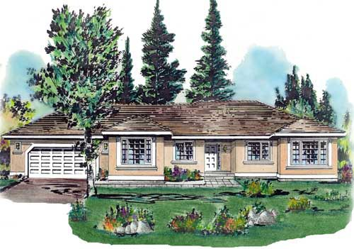 Florida House Plan 58664 Elevation