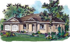 European House Plan 58666 Elevation