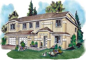 European House Plan 58669 Elevation