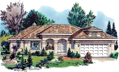 Florida House Plan 58670 Elevation