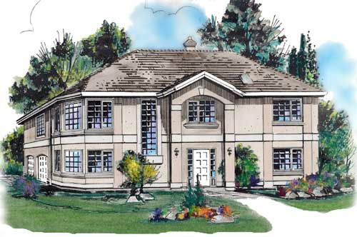 European House Plan 58672 Elevation