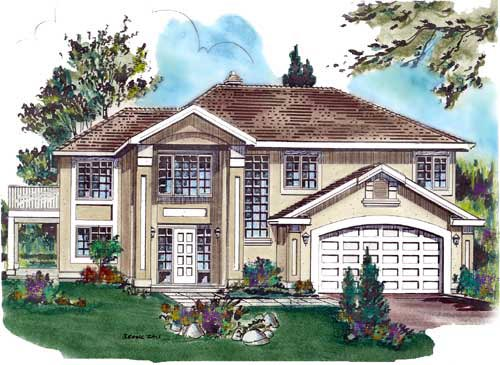 European House Plan 58674 Elevation