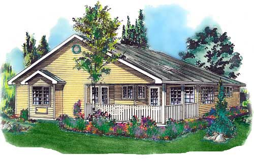 Ranch House Plan 58675 Elevation
