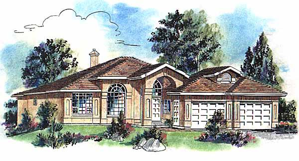 Florida House Plan 58676 Elevation