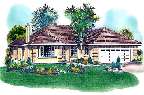 Florida House Plan 58677 Elevation