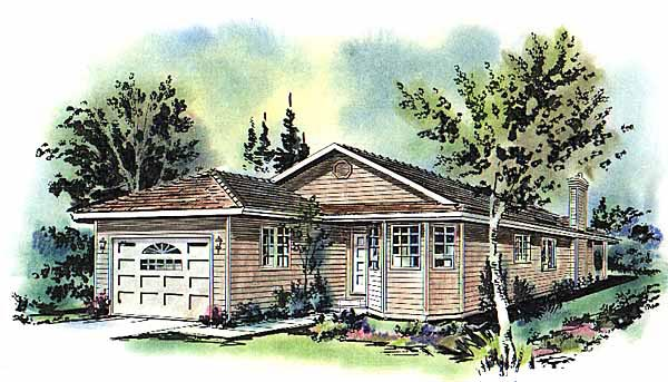 Traditional House Plan 58680 Elevation