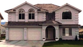 House Plan 58688 | Florida Style Plan with 1632 Sq Ft, 3 Bedrooms, 2 Bathrooms, 2 Car Garage Elevation