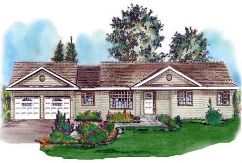 Ranch House Plan 58689 Elevation