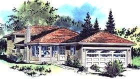 Contemporary House Plan 58690 Elevation