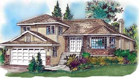 Contemporary House Plan 58695 Elevation
