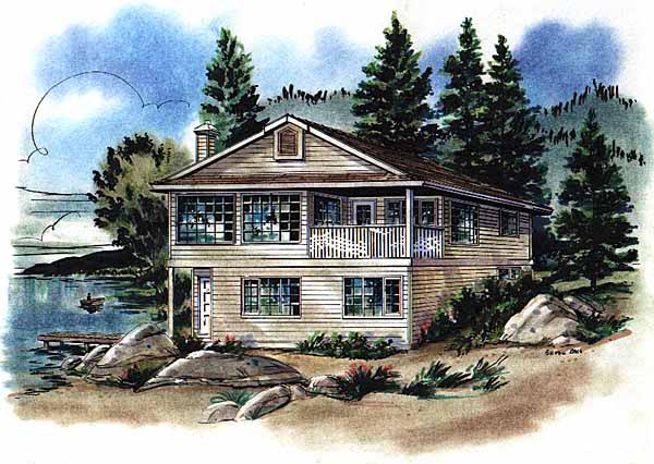 Ranch House Plan 58696 Elevation