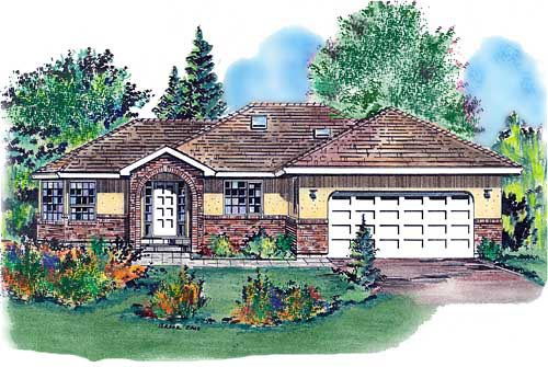 Ranch House Plan 58698 Elevation