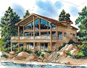 Contemporary House Plan 58701 Elevation
