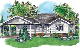 Ranch House Plan 58702 Elevation