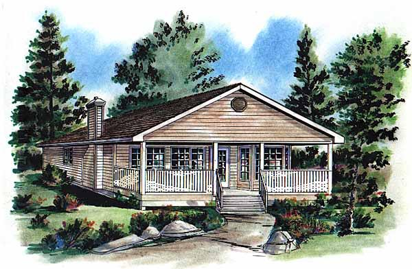 Ranch House Plan 58704 Elevation